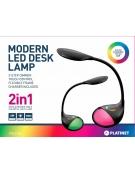 PLATINET DESK LAMP 6W + NIGHT LAMP ΜΑΥΡΟ