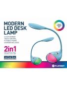 PLATINET DESK LAMP 6W + NIGHT LAMP ΜΠΛΕ
