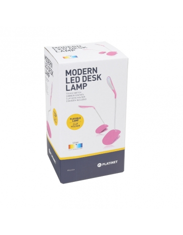 PLATINET DESK LAMP 3W FLEXIBLE WITH CLIP ΡΟΖ