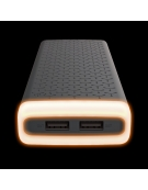 PLATINET POWER BANK 20000mAh 2,1A polymer USB + AMBIENT LIGHTING BLACK