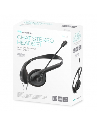 FIESTA HEADSET STEREO WITH MICROPHONE FIS1020 USB