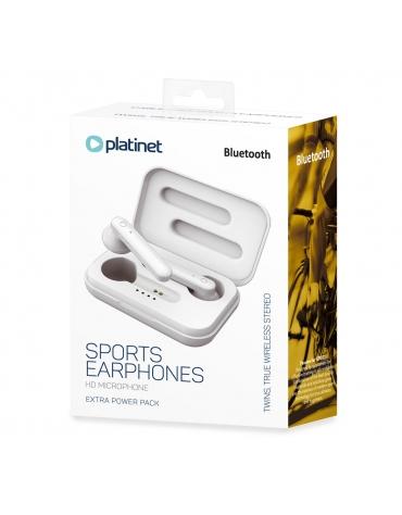 PLATINET BLUETOOTH EARPHONES SPORT + CHARGING STATION