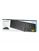 PLATINET WIRELESS KEYBOARD K100 US BLACK
