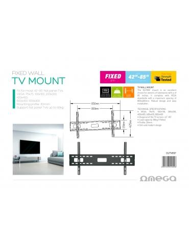 """OMEGA TV MOUNT MAX VESA 800X400 42""""-85"""" FIXED PINE"""