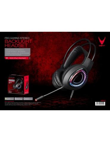VARR GAMING RGB HEADSET HI-FI STEREO MIC VH8010 USB 7.1  BLACK