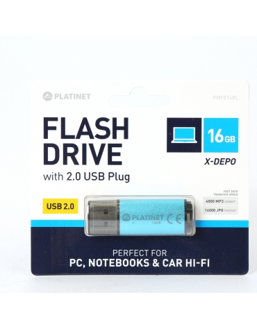PLATINET PENDRIVE USB 2.0 X-Depo 16GB BLUE