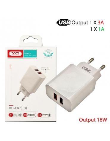 XO L67 EU 18W QC3.0+1A 2xUSB