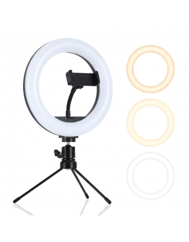 PMRL8 PLATINET RING LAMP 8 INCH WITH PHONE HOLDER AND TRIPOD