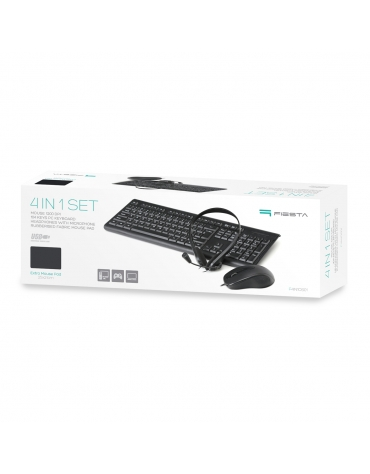 PLATINET 4 IN 1 HOME  OFFICE WIRED SET MOUSE, KEYBOARD, MOUSE PAD, HEADPHONES WITH MIC