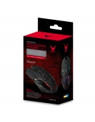 VARR GAMING MOUSE VGM-B01 1600-2400-3200DPI BLACK Wired gaming mouse with LED backlight.