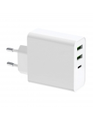 PLATINET WALL CHARGER 65W TYPE C PD65W+USB2.4A