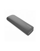 PLATINET POWER BANK ΔΕΡΜΑΤΙΝΟ 7200mAh  ΓΚΡΙ + καλώδιο microUSB [43414]