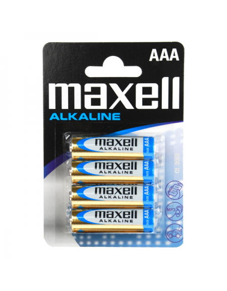 MAXELL ΑΛΚΑΛΙΚΗ ΜΠΑΤΑΡΙΑ LR03/AAA BLISTER ΣΥΣΚΕΥΑΣΙΑ 4 ΤΕΜΑΧΙΩΝ