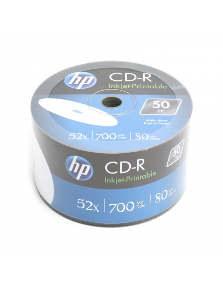 HP CD-R 700MB 52X WHITE FF InkJet Printable SP 50 ΤΕΜΑΧΙΑ