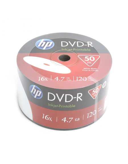 HP DVD-R 4.7GB 16X WHITE FF InkJet Printable SP 50 ΤΕΜΑΧΙΑ
