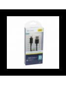 PLATINET ΚΑΛΩΔΙΟ MICRO USB ΣΕ USB 2A   1M ΜΑΥΡΟ BLISTER