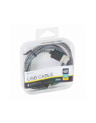 PLATINET ΚΑΛΩΔΙΟ MICRO USB ΣΕ USB FABRIC BRAIDED  1M ΜΑΥΡΟ