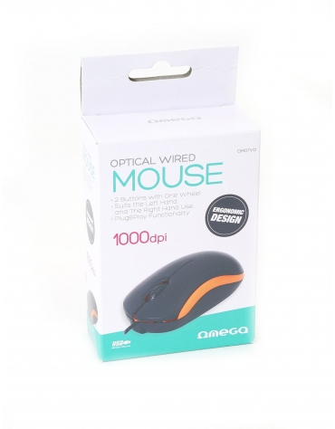 MOUSE OMEGA OM-07 3D OPTICAL 1000DPI VALUE LINE V2 ORANGE [43184]