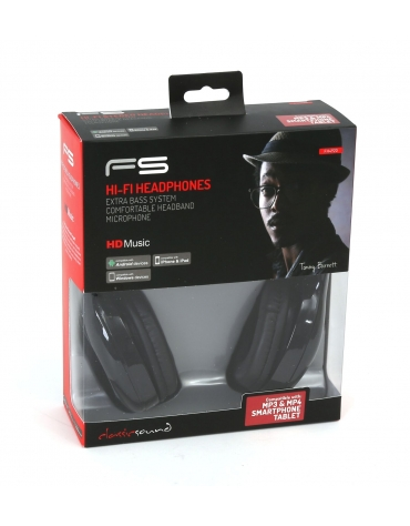 FREESTYLE HEADSET FH-4920 ΜΙΚΡΟΦΩΝΟ ΜΑΥΡΟ mini jack + USB [42685]