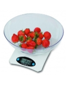 OMEGA KITCHEN SCALE SILVER WITH BOWL