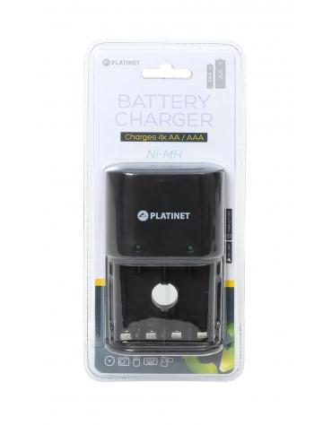 PLATINET UNIVERSAL CHARGER 4x R3(AAA) & R6 (AA)