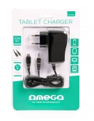 OMEGA TABLET WALL CHARGER 2 TIPS MICRO USB & 2,5x0,7MM [41836]