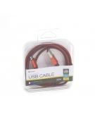 PLATINET ΚΑΛΩΔΙΟ MICRO USB ΣΕ USB FABRIC BRAIDED  1M  ΚΟΚΚΙΝΟ
