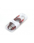 PLATINET MICRO USB TO USB ΔΕΡΜΑΤΙΝΟ ΚΑΛΩΔΙΟ 1M ΚΌΚΚΙΝΟ