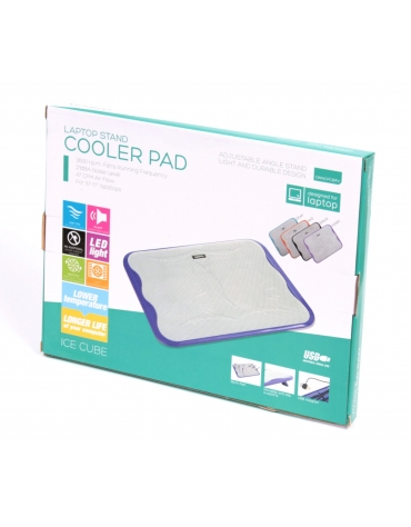 "OMEGA LAPTOP COOLER PAD "" ICE CUBE"" ΜΩΒ"
