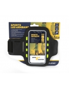 PLATINET SPORT ARMBAND FOR SMARTPHONE BLACK WITH LED
