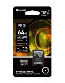 PLATINET microSDXC SECURE DIGITAL + ADAPTER SD 64GB class10 UIII 90MB/s [43999]