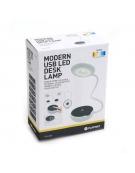 PLATINET DESK LAMP 6W + NIGHT LAMP COMPACT SIZE BLACK [43598]
