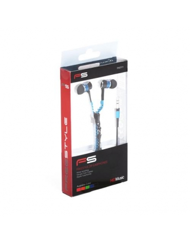 FREESTYLE ZIP EARPHONES + MIC FH2111 BLUE [41799]