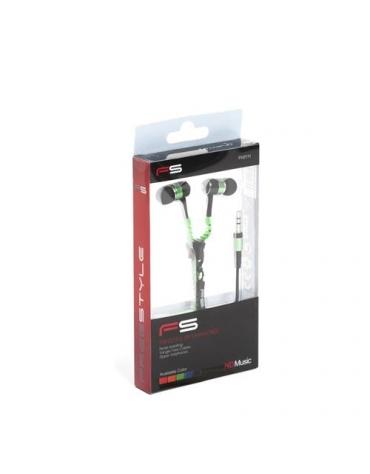 FREESTYLE ZIP EARPHONES + MIC FH2111 GREEN [41800]