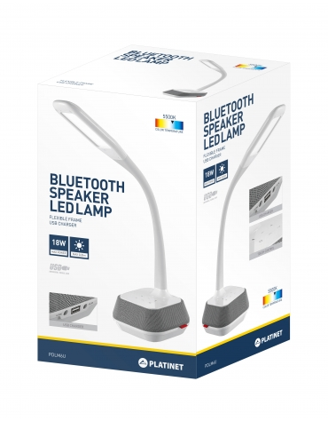 PLATINET DESK LAMP 18W WITH BLUETOOTH SPEAKER & USB CHARGER