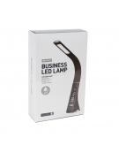 PLATINET DESK LAMP 5W ECO-LEATHER + CALENDAR BROWN [43599]