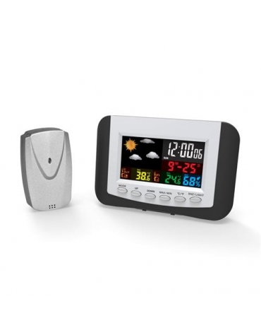 OMEGA DIGITAL WEATHER STATION LCD INDOOR/OUTDOOR WIRELLESS