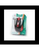 MOUSE OMEGA OM-05R OPTICAL 800-1200-1600DPI RED BLISTER [41790]