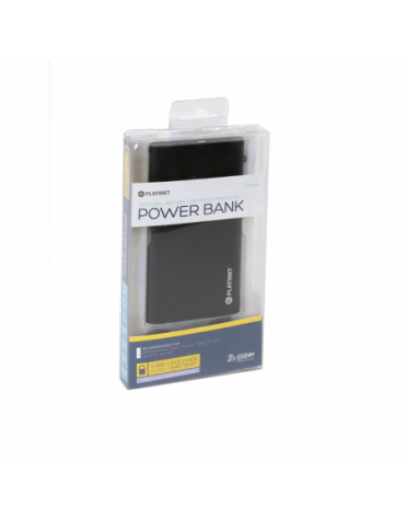 PLATINET POWER BANK 5000mAh polymer 2xUSB ΜΑΥΡΟ [43173]