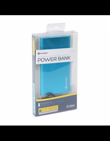PLATINET POWER BANK 5000mAh polymer 2xUSB ΜΠΛΕ [43174]