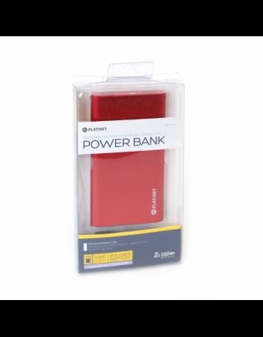 PLATINET POWER BANK 5000mAh polymer 2xUSB ΚΟΚΚΙΝΟ [43175]