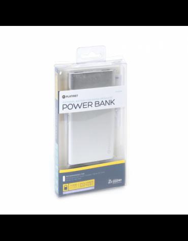 PLATINET POWER BANK 5000mAh polymer 2xUSB SILVER [43176]