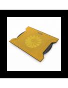 OMEGA LAPTOP COOLER PAD (CHILLY) 1 FAN 4 USB ΘΥΡΕΣ ΚΙΤΡΙΝΟ
