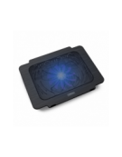 OMEGA LAPTOP COOLER PAD (BREEZE) 14CM FAN USB PORT ΜΑΥΡΟ