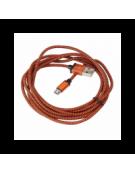 PLATINET ΚΑΛΩΔΙΟ MICRO USB ΣΕ USB FABRIC BRAIDED  2M ΠΟΡΤΟΚΑΛΙ