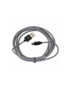 PLATINET ΚΑΛΩΔΙΟ MICRO USB ΣΕ USB FABRIC BRAIDED  2M ΜΑΥΡΟ