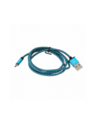 PLATINET ΚΑΛΩΔΙΟ MICRO USB ΣΕ USB FABRIC BRAIDED  1M  ΜΠΛΕ