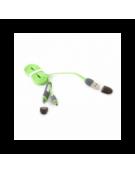 PLATINET ΚΑΛΩΔΙΟ USB UNIVERSAL  2 ΣΕ 1: MICRO USB & LIGHTNING ΣΥΝΔΕΣΗ  ΠΡΑΣΙΝΟ