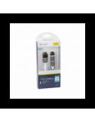 PLATINET ΚΑΛΩΔΙΟ USB UNIVERSAL  2 ΣΕ 1: MICRO USB & LIGHTNING ΣΥΝΔΕΣΗ ΛΕΥΚΟ