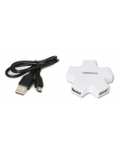 OMEGA USB 2.0 HUB 4 PORT STAR WHITE [42858]